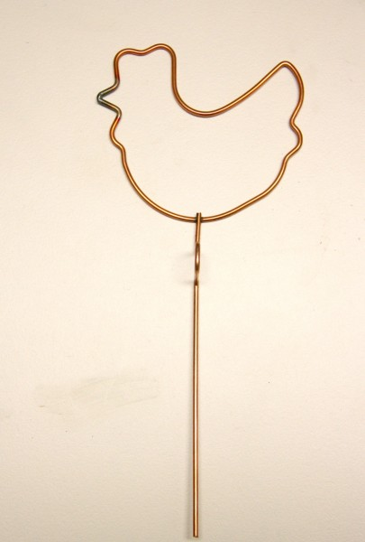 Drahtfigur Drahtform Huhn Artidee Creartec Colouraplast