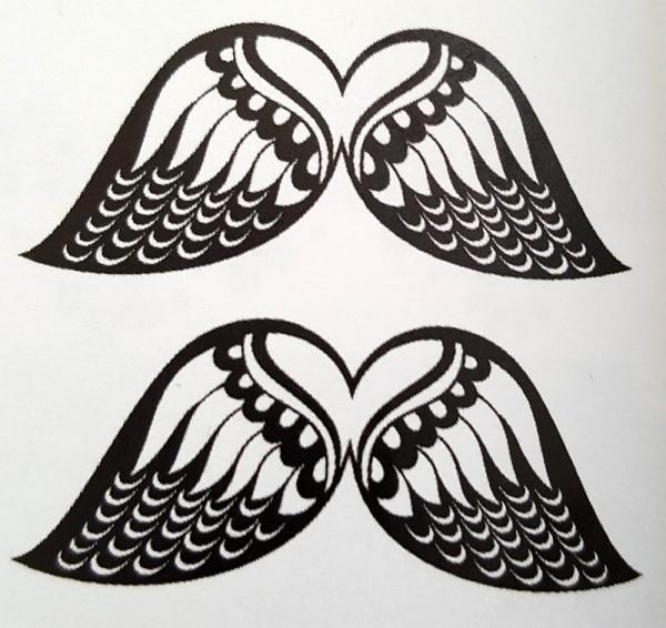 Schablone Engelflügel creartec artidee basteln schablonieren wandtechnik piccolina