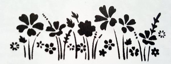 Schablone Blumenwiese creartec artidee piccolina waldkindergarten