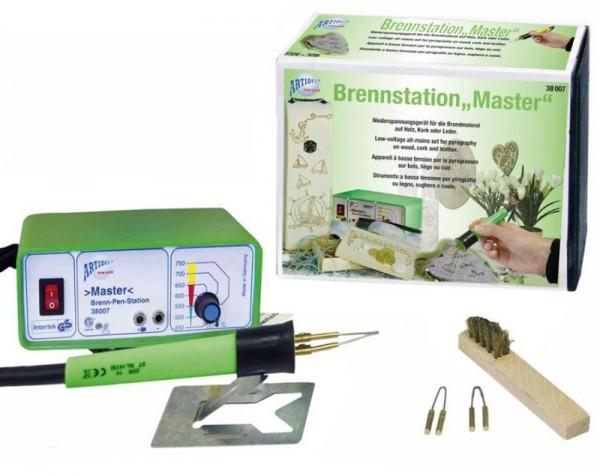 Brenn-Pen-Station MASTER 230 V mit 3 Brennschleifen CREARTEC ARTIDEE piccolina