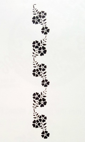 Schablonenmotiv Schablone Pansy piccolina artidee creartec waldkindergarten