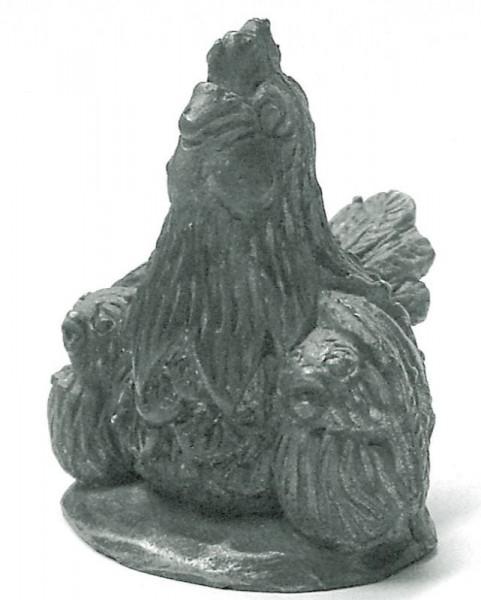 Henne mit Küken creartec artidee siliconform piccolina waldkindergarten