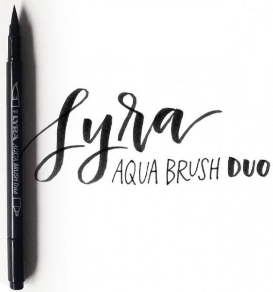 Doppelfasermaler AQUA BRUSH DUO schwarz LYRA piccolina