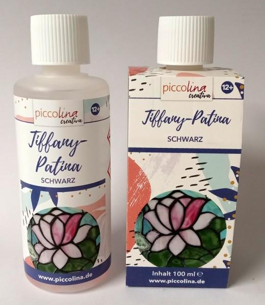 TIFFANY-PATINA schwarz 100 ml PICCOLINA CREATIVA