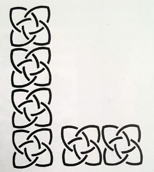 Schablone Tulipornament CREARTEC ARTIDEE piccolina