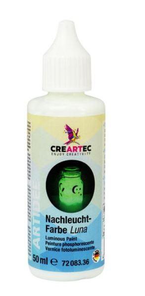 NACHT-LEUCHTFARBE 50ml CREARTEC ARTIDEE piccolina, waldkindergarten