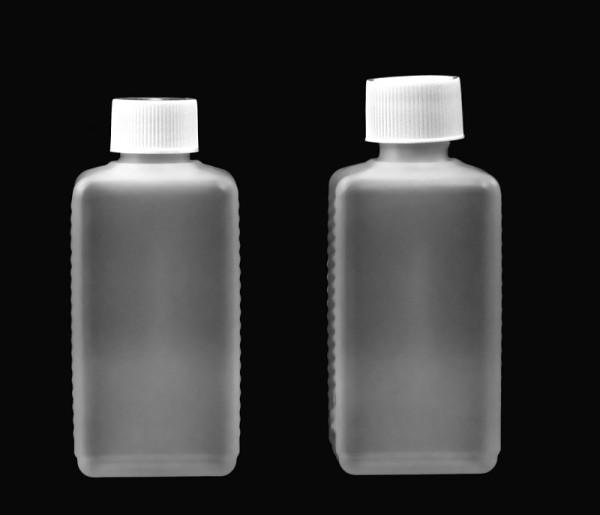 VIERKANTFLASCHE 200 ml mit Verschluss piccolina