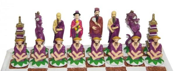Giessformen Schachfiguren CHINESEN (7-fach)